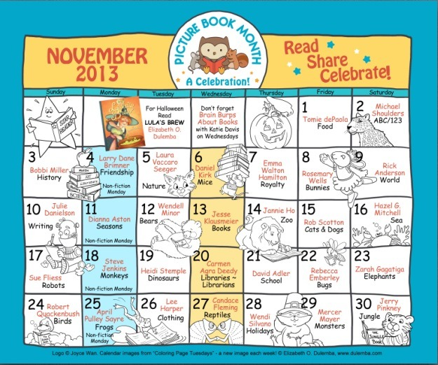 Picture Book Month 2013 Color Calendar jpg